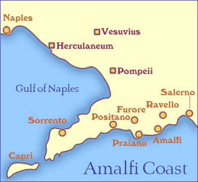 Naples Capri Positano Palmarola Ponza Bonifacio